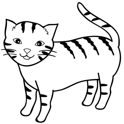 sketsa gambar mewarnai kucing sobsketsa