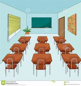 Empty classroom stock illustration. Image of seats, room ...