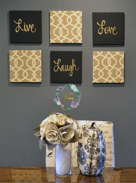 black  gold eat drink  merry chic wall art set