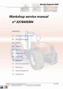 Massey Ferguson Mf 6475 Tractor Service Repair Manual