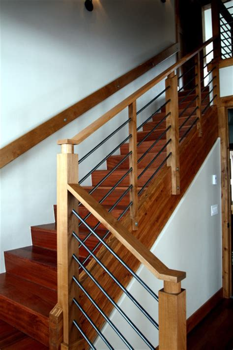 railing detail  mountain homes modern staircase