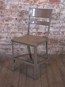 Vintage Industrial Rustic Toledo Metal Dining Cafe Side