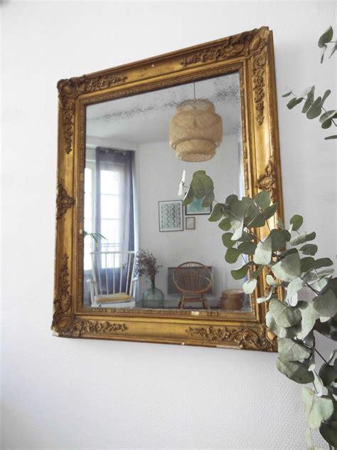 miroir doré ancien miroir ancien dor 233 rectangulaire