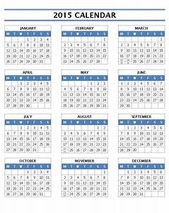 16 2015 word calendar template images 2015 monthly With 2015 yearly calendar template