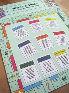 Board Game Themed Wedding Seating Plans