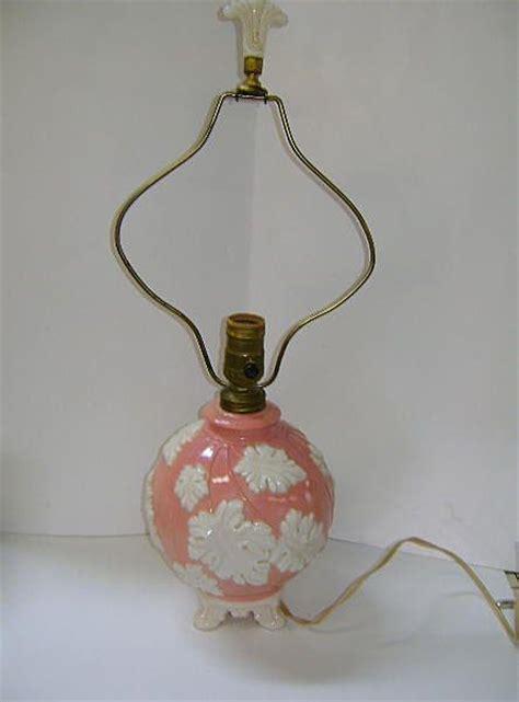 vintage aladdin electric light rose and leaf motif with