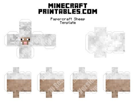 sheep printable minecraft sheep papercraft template