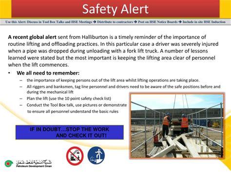 safety alert powerpoint  id