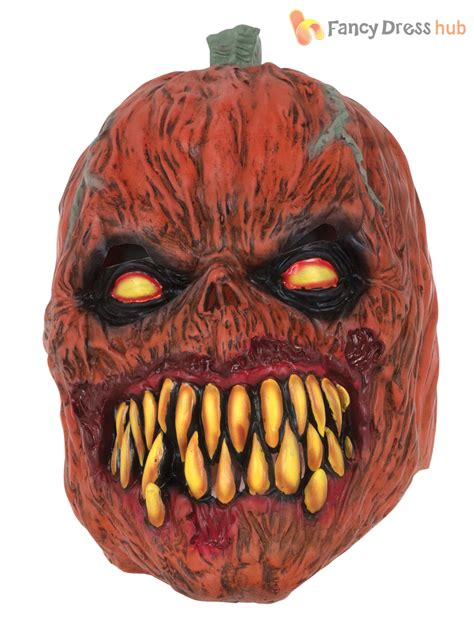 Adults Pumpkin Mask Halloween Fancy Dress Costume