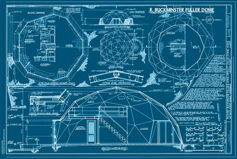 blueprint for homes buckminster fuller s home in a dome sometimes interesting