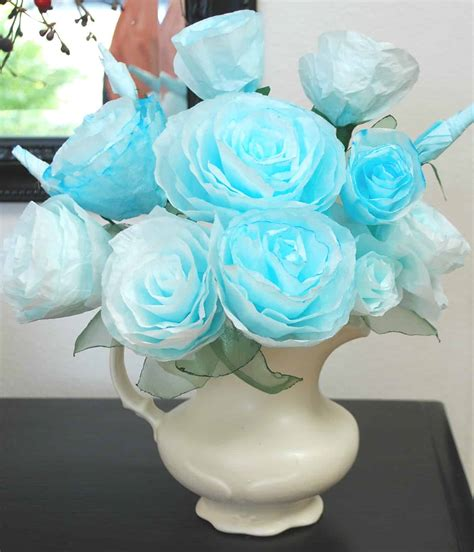 This enables it to trap the coffee grounds and allow the liquid coffee to flow through. Paper Roses from Coffee Filters
