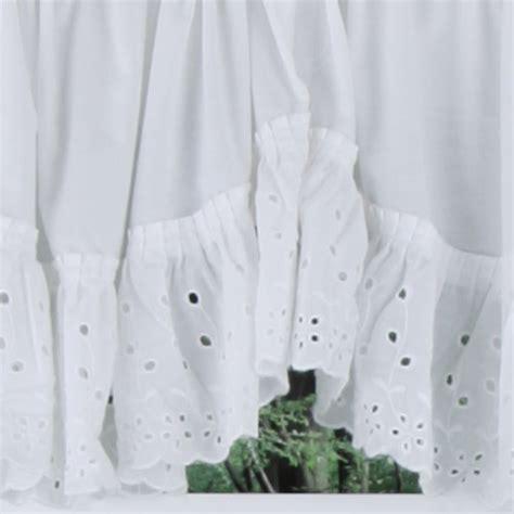 white eyelet kitchen curtains vienna embroidered eyelet ruffled curtains united cafe