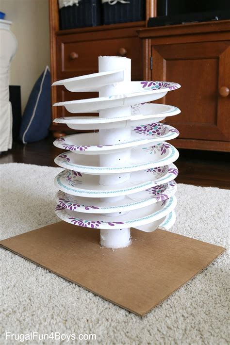 spiral marble tracks  plate