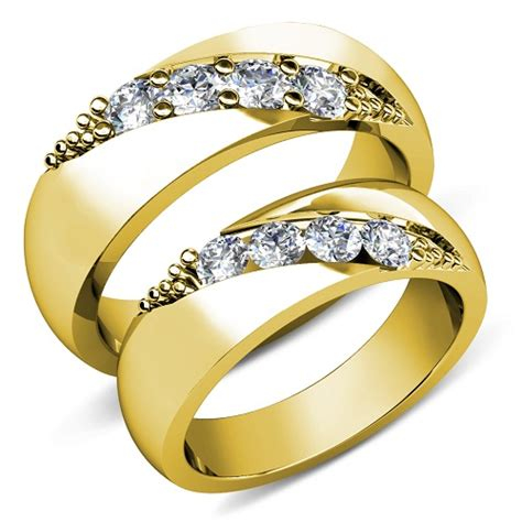 wedding ring sets for him and her cheap