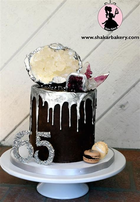 Sugar Geode And Agate Drip Cake   CakeCentral.com