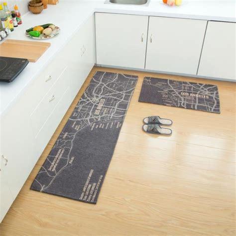 tapis d evier de cuisine lot de 2 tapis de cuisine devant évier 45 x 120cm 40 x