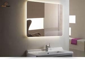 Specchiera Led Per Bagno 120x90 Cm Design Stondato Con