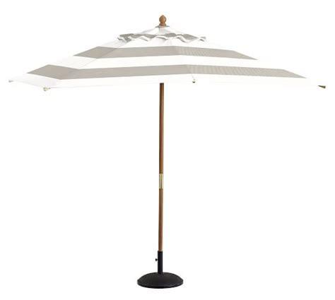 premium sunbrella 174 rectangular umbrella stripe pottery