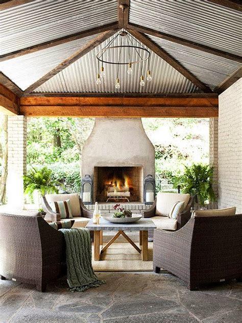 Outdoor Living Room  Wicker & Brick  Get The Look Cococozy