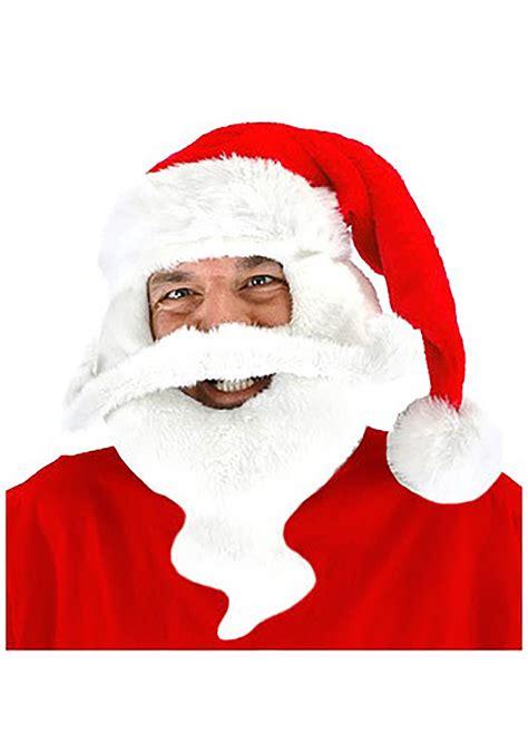 Santa Claus Hat with Beard - Santa Holiday Costume Accessories