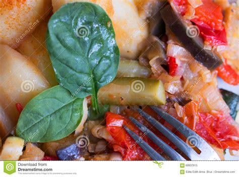 ratatouille avec des pommes de terre photo stock image