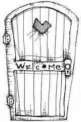 Door Coloring Stampotique Welcome Stamps Rubber Pages Torrente Printable Stamp Template Sign Colouring Drawings Window Shipping Monsters Inc Opening Getcoloringpages sketch template