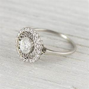 Vintage engagement rings for Halo engagement rings with wedding bands