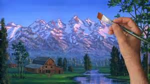 peindre montagne cours complet paysage rural 233 table le 231 on acrylique