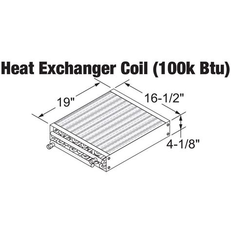 water  air heat exchanger coil  straight  fpt