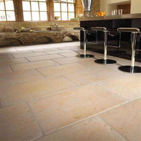Jerusalem Grey Gold Brushed Limestone Floor Tiles