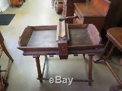 Circa 1800s Antique Butter Working Table