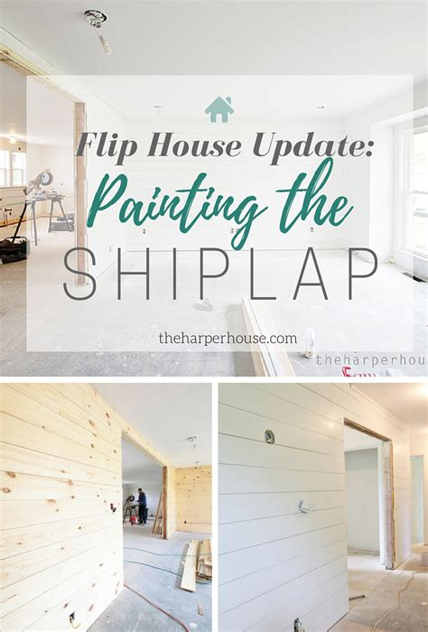 Flip House Update: Painting the Shiplap