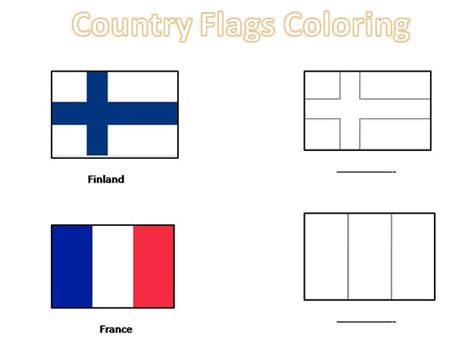 country flags coloring pages  kids