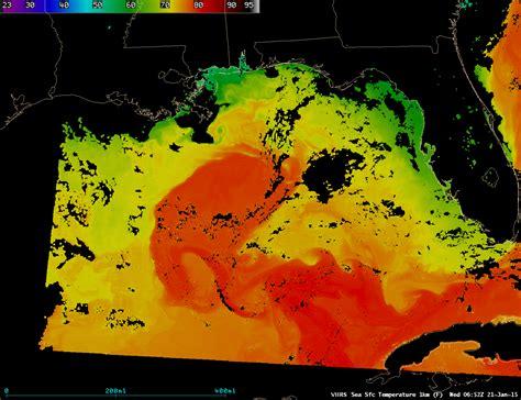 viirs sea surface temperature patterns   gulf