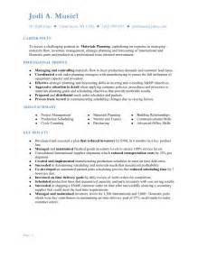 planner resume objective musiel jodi resume materials planning 2