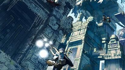 Anime Fantasy Flying Magic Witch Metropolis Animals