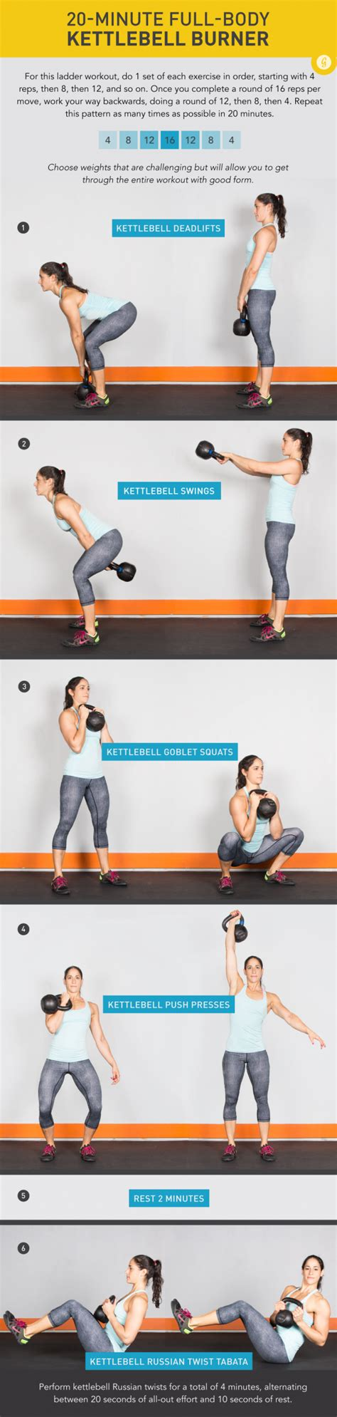 kettlebell workout body minute exercises routine whole bell dumbbell quick kettle workouts total exercise kettlebells min ball greatist fitness bells