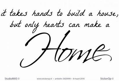 Muurstickers Engelse Tekst Takes Hands Build