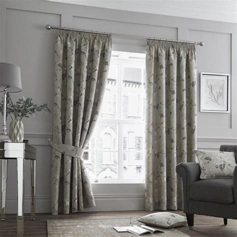 Bathroom Curtains 54 Drop by Luxury Designer Andria Floral Heavy Weight Lined 3 Quot Pencil