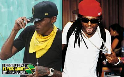 dancehall news flying  vybz kartel lil wayne cory