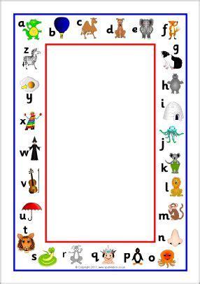 alphabet picture  page borders sb sparklebox