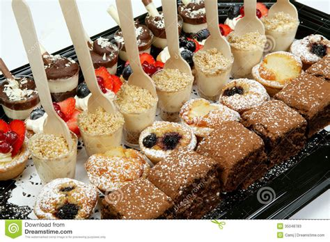 canape desserts dessert canapes stock photos image 35048783