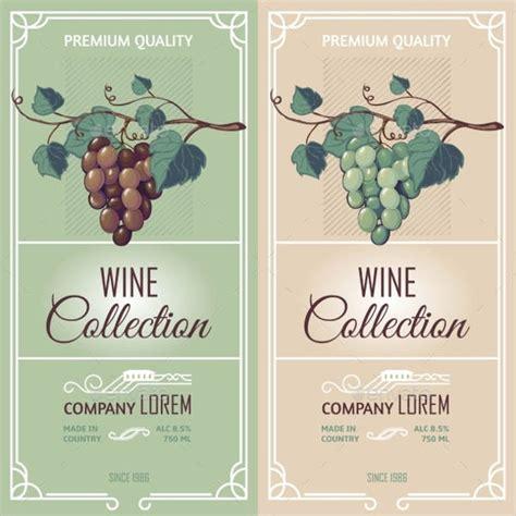 beautiful wine label designs psd vector ai eps