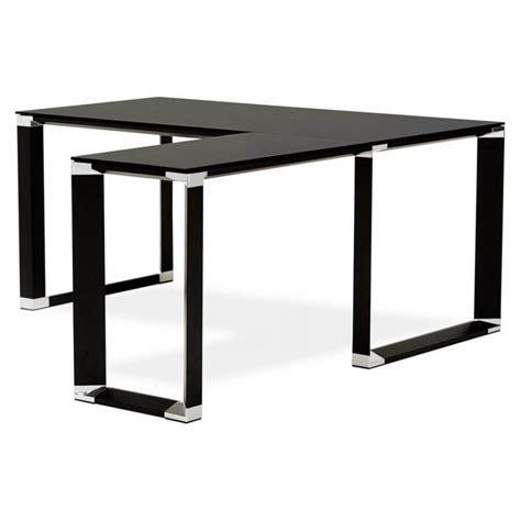 bureau angle verre bureau d 39 angle design master en verre trempé noir