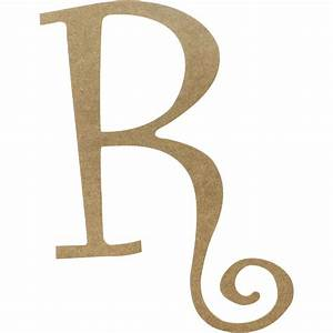 14quot decorative wooden curly letter r ab2162 With decorative letter r for wall