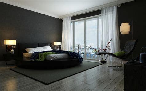 interior preto  branco moderno  quarto imagem de stock