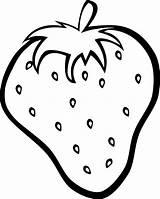 Coloring Clipart Grape Fruit Transparent Simple Webstockreview Strawberry sketch template