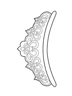 tiara pattern   printable outline  crafts