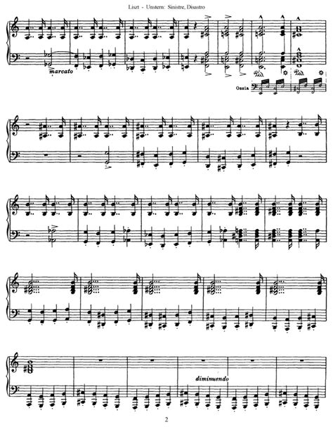 s 208 unstern sinistre disastro free sheet music by
