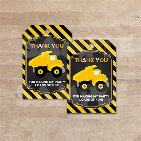 personalized construction   tagsdump truck gift